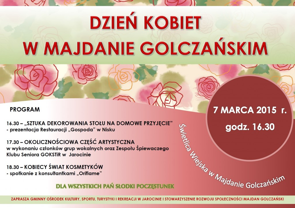plkat 8 marca Majdan